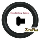 "Sanitary Gasket 1/2"" Buna Black Price for 2 pcs"