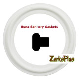 "Sanitary Gasket 1/2"" Buna White Price for 2 pcs"