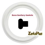 """Sanitary Gasket 3/4"""" Buna White Price for 2 pcs"""