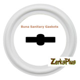 "Sanitary Gasket 2-1/2"" Buna White Price for 5 pcs"