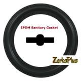 "Sanitary Gasket 6"" EPDM Black Price for 1 pc"