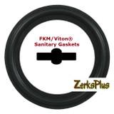 "Sanitary Gasket 4"" FKM/Viton® Black Price for 1 pc"
