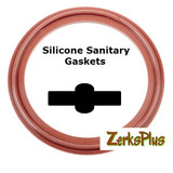 "Sanitary Gasket 1"" Silicone Red  Price for 2 pcs"