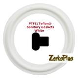 "Sanitary Gasket 1/2"" PTFE/TEFLON® White  Price for 2 pcs"