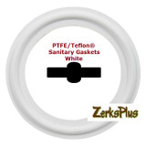 "Sanitary Gasket 2-1/2"" PTFE/TEFLON® White  Price for 2 pcs"