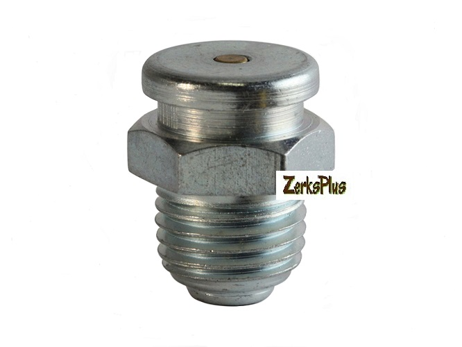 1/4-18 NPT Button Head Straight Grease Zerk Fitting 2 Pcs