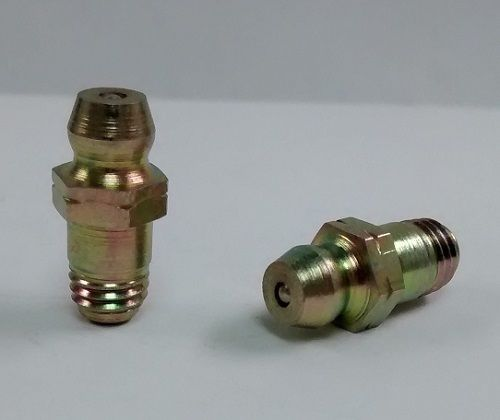 1/4-28 x 11/16 (.687) Thread Forming Straight Grease Zerk Fitting 10 pcs