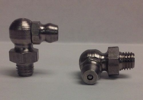 1/4-28 Taper 90° Stainless Steel 3/8 Hex Grease Zerk Fitting 1 Pc