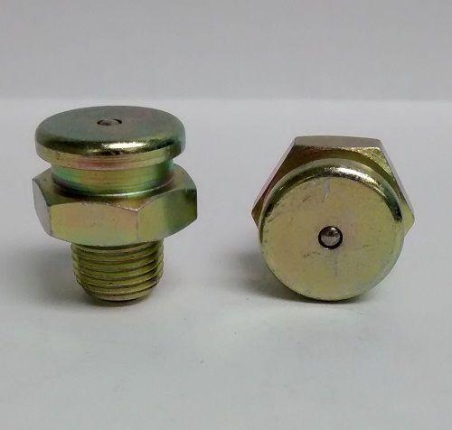 1/8-27 NPT Button Head 5/8 Hex Zerk Fitting 2 Pcs