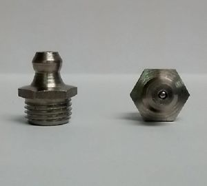 M10 x 1mm Straight Stainless Metric Grease Fitting