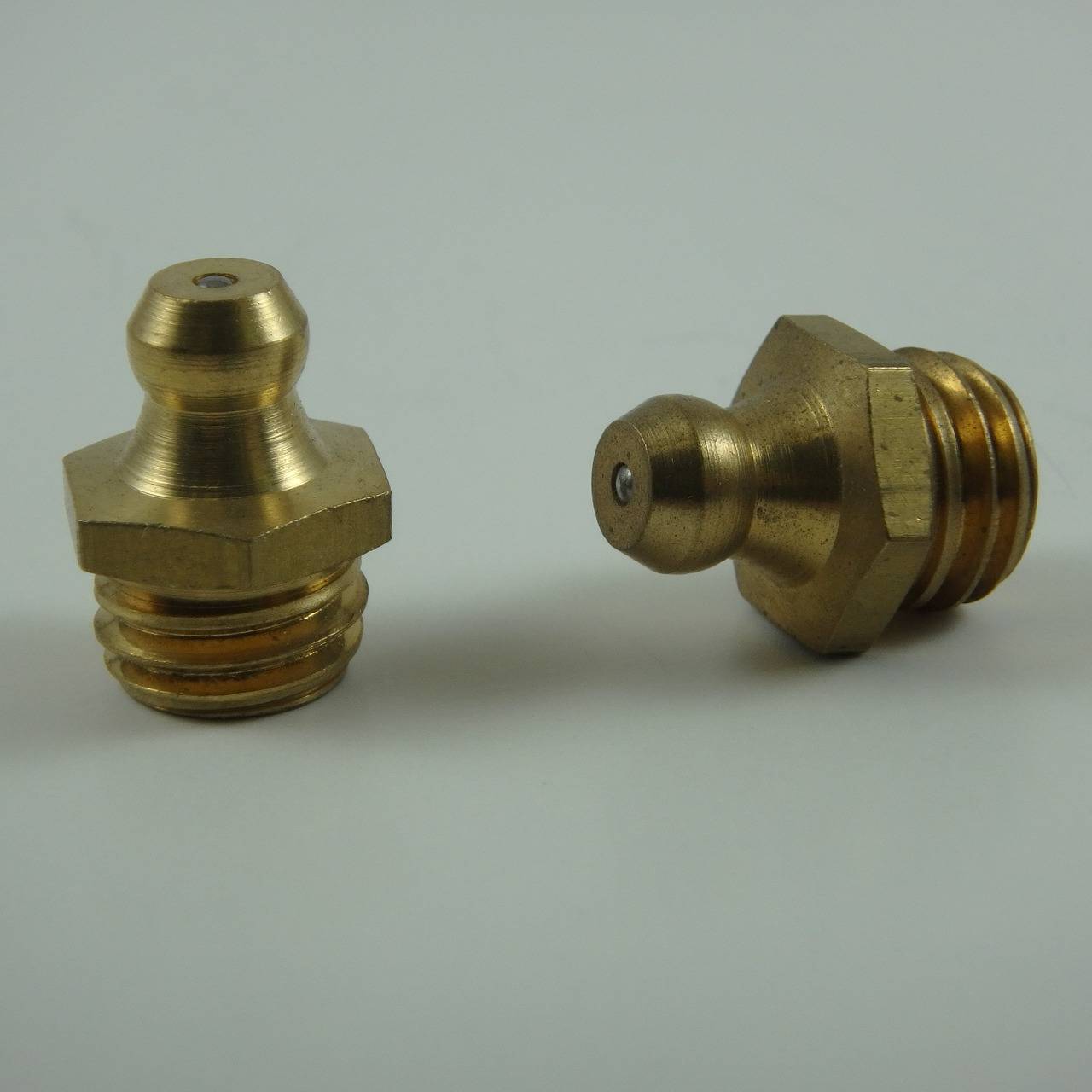 M12 x 1.5mm Straight Brass Metric Grease Zerk Fitting 1 Pc