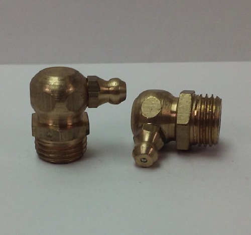 1/4-19 BSP 90° Brass Grease Zerk Fitting 1 pc