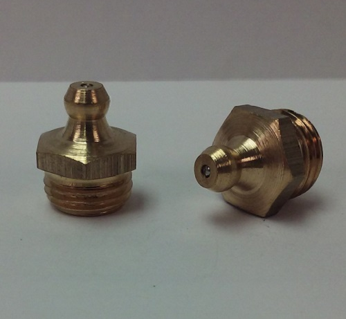 1/4-19 BSP Straight Brass Grease Zerk Fitting 1 Pc