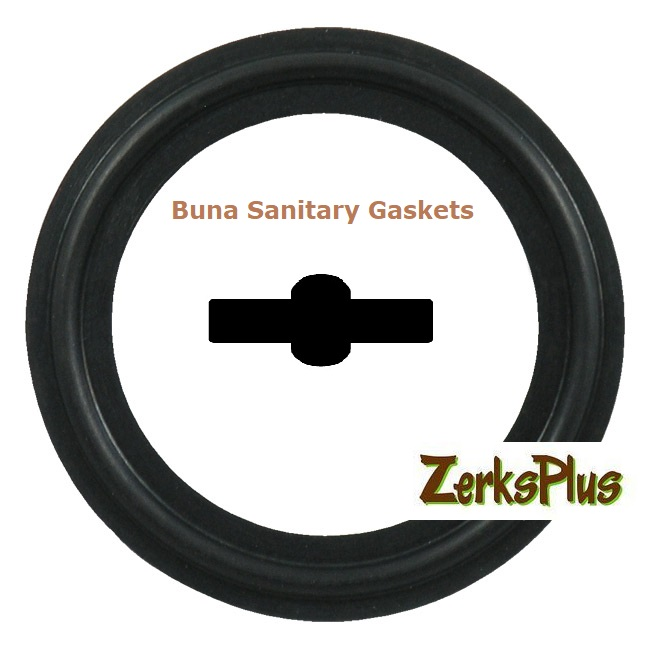 "Sanitary Gasket 1-1/2"" Buna Black Price for 5 pcs"