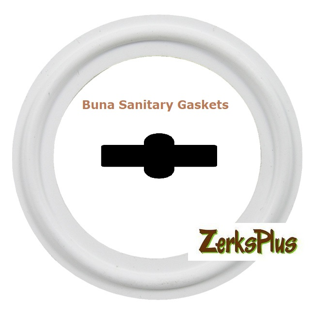"Sanitary Gasket 1"" Buna White Price for 5 pcs"