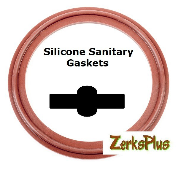 "Sanitary Gasket 3"" Silicone Red  Price for 2 pcs"