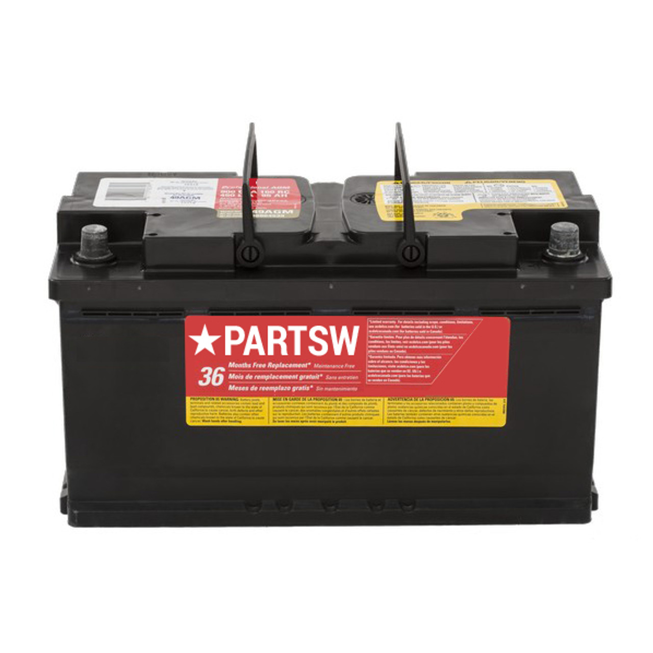PartsW Red Top Battery