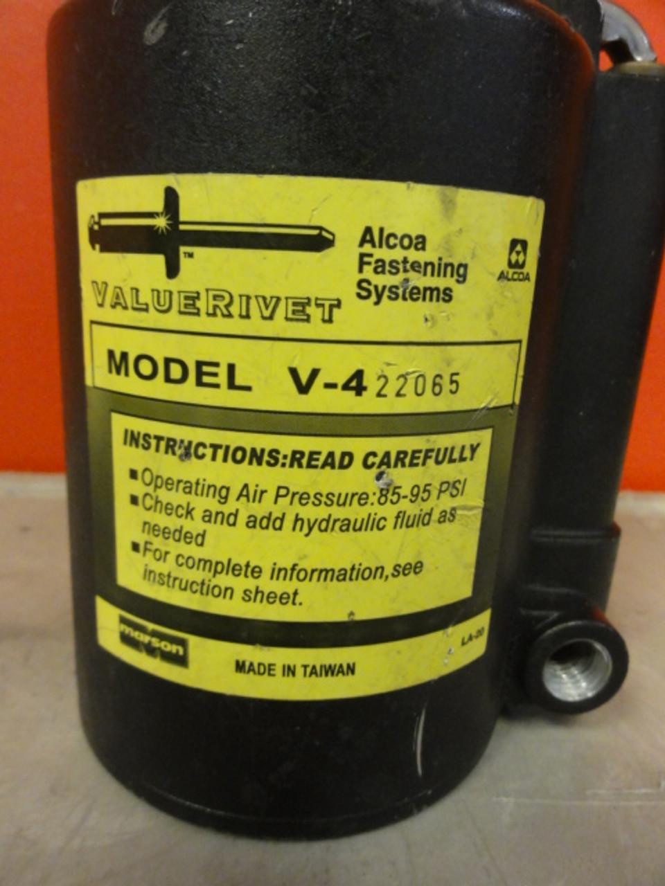 Alcoa ValueRivet V-422065 Pneumatic Rivet Air Gun