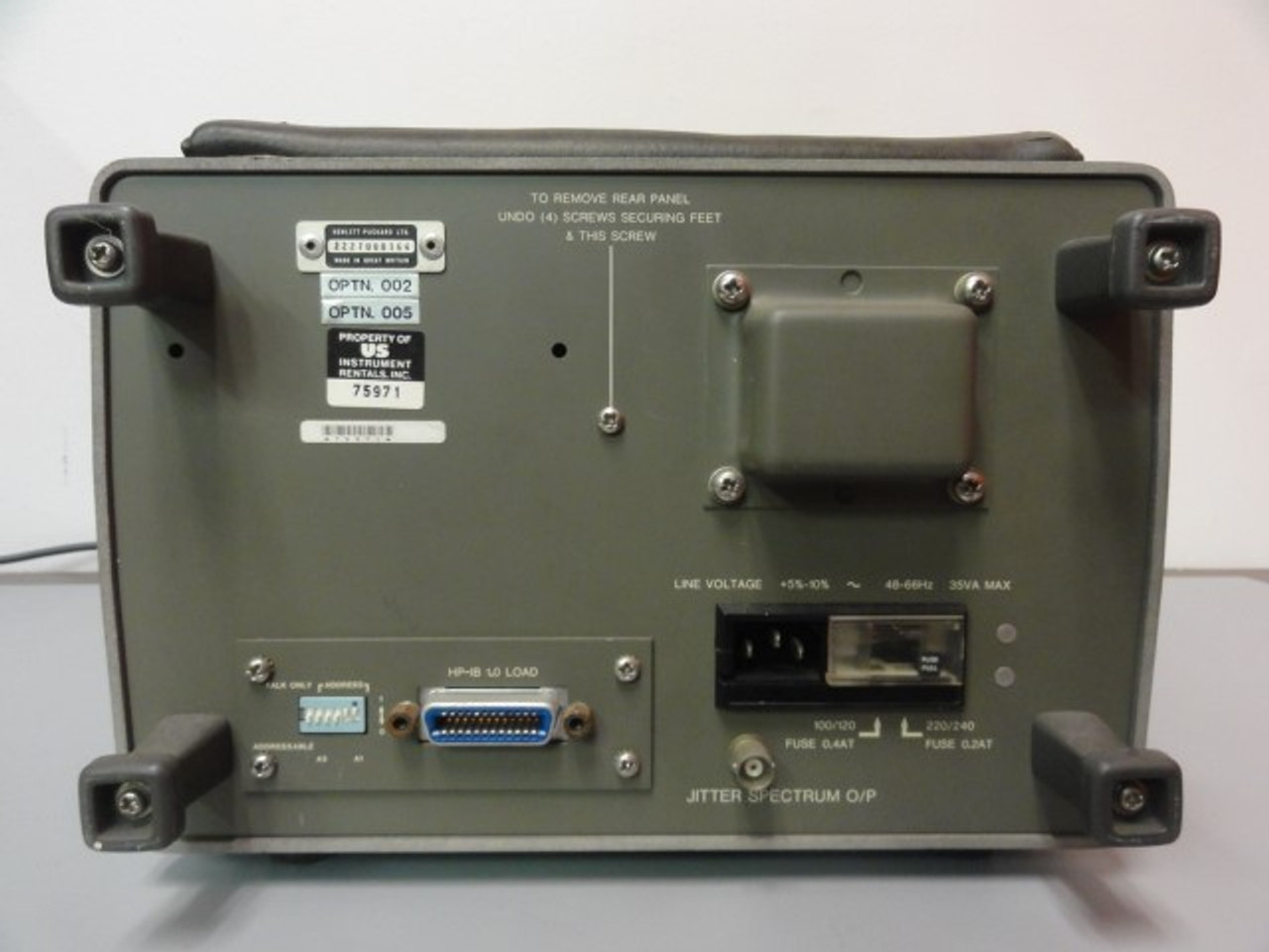 HP Hewlett Packard 3771B Data Line Analyzer, OPTN.002, OPTN.005