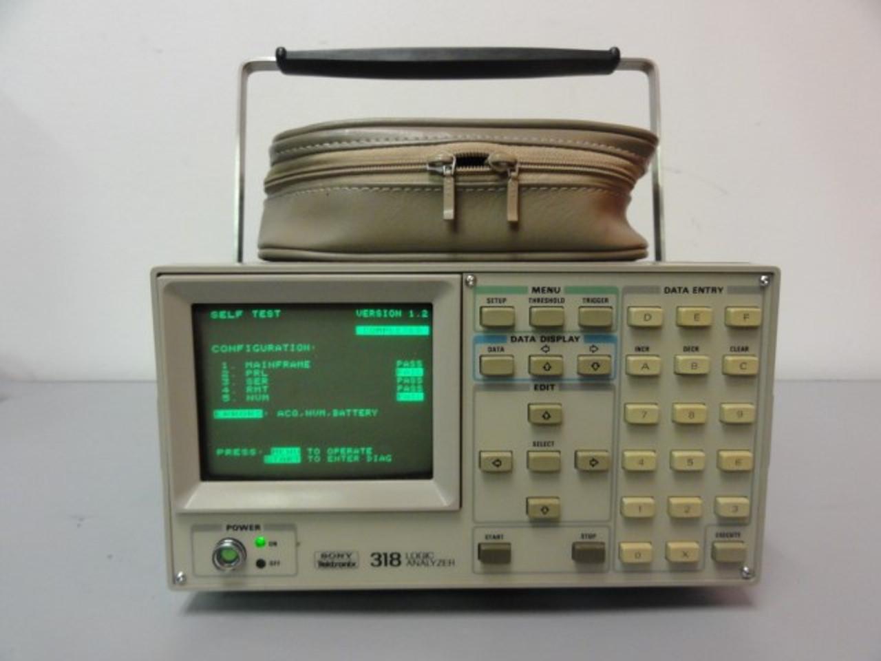 Sony Tektronix 318 Logic Analyzer w/ Tektronix P6451 Data Acquisition Probe w/ Accessories