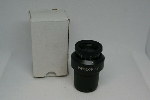 (1) WF25X/9 9mm High Eyepoint Wide Angle Stereo Microscope Eyepiece - 30mm