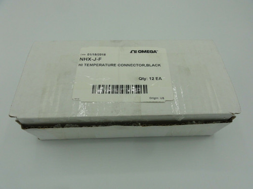 (12) Omega NHX-J-F Ceramic Ultra High Temperature H.D. Standard Size Connectors