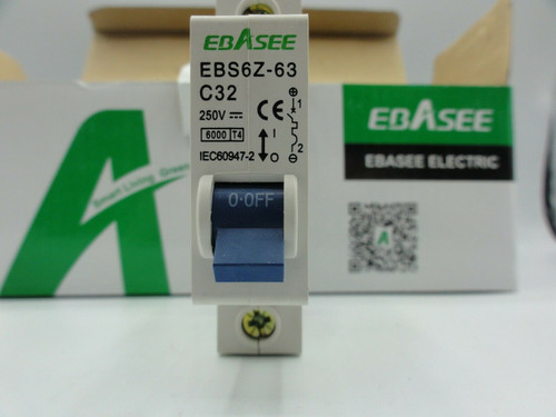 (12) Ebasee EBS6Z-63 250V 32A Circuit Breakers