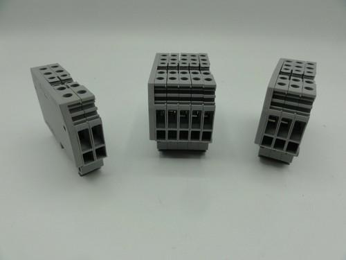 (120) Entrelec M4/6-4A Din Rail Terminal Block Grey X4