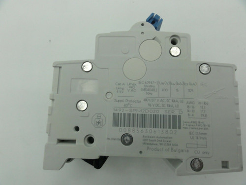 (2) Allen Bradley (AB) 1492-SP 2 Amp, Miniature Circuit Breakers