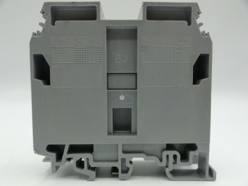 (2) Entrelec M70/22 2 Pos. Feed Through Terminal Blocks 600V 150A 00 AWG