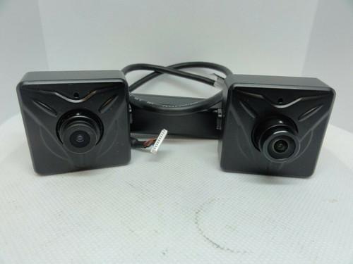(2) KT&C KNC-HDi47B & HDi47 CCTV Cameras, 2.8mm, 12V, 240mA w/ DC12V USB Supply