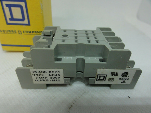 (2) Square D Class 8501 Type NR45 Series A Relay Sockets