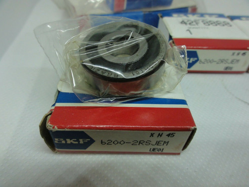 (3) SKF 6200-2RSJEM (3) 6001-2ZJ/EM Ball Bearings *NEW*