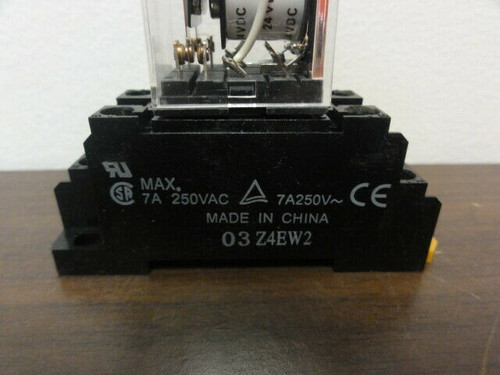 (4) Relay Sockets 03Z4EW2 with Omron MY2N Relays