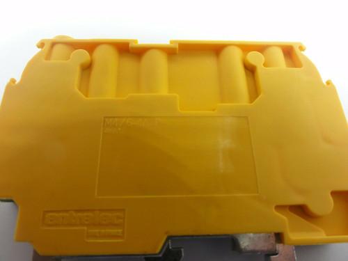 (47) Entrelec M4/6-4A-P Green/Yellow Screw Clamp Terminal Blocks Ground