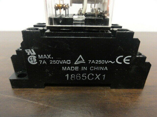 (5) Relay Sockets 1865CX1 with Relays
