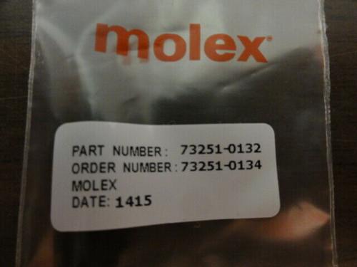 (7) Molex P/N 73251-0132 Conn SMA Plug STR 50 Ohm Solder **NEW**