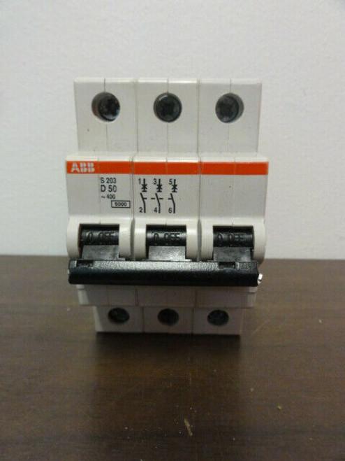 ABB S203 D50 Circuit Breaker - 3 Pole