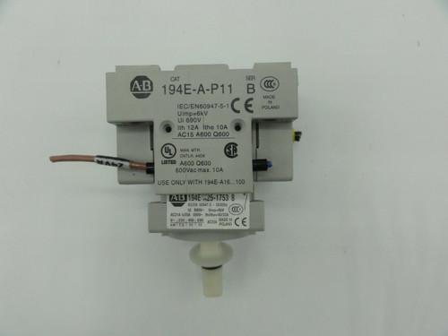 AB 194E-E32-1753 Ser B Load Switch w/ Auxiliary AB 194E-A-P11