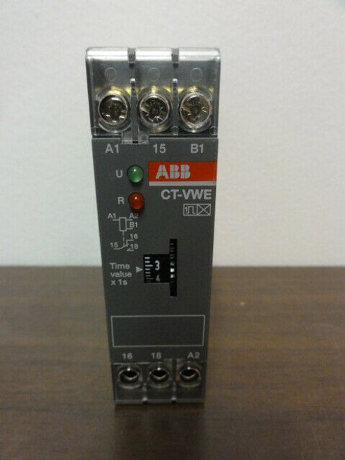 ABB CT-VWE Time Relay Module - 0.1s - 10s 220-240Vac 50/60Hz