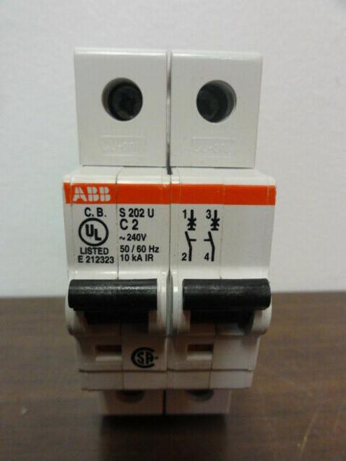 ABB S202U C2 Circuit Breaker. 2Pole 240V 50/60Hz 10kA IR