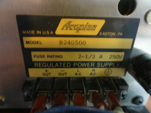 Acopian Model B24G500 Regulated Power Supply