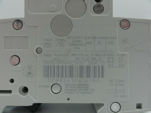 Allen Bradley (AB) 1492-SP 30 Amp, Miniature Circuit Breaker