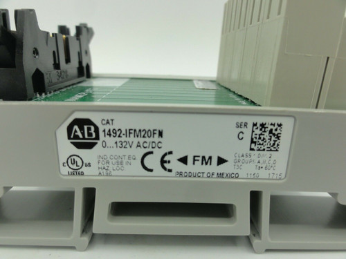 Allen Bradley Model 1492-IFM20FN INTERFACE MODULE, SER. C, 0...132V AC/DC