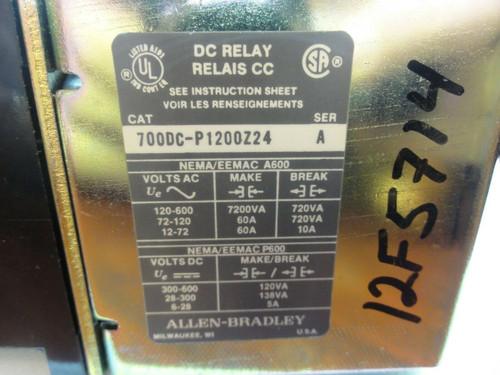 Allen-Bradley 700DC-P1200Z24 DC Relay, Bulletin 7000DC, Type P, 12 Pole