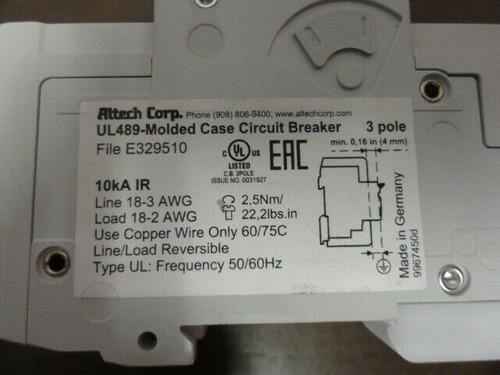 Altech ABL Sursum C50 3C50UL Circuit Breaker - 3 POLE