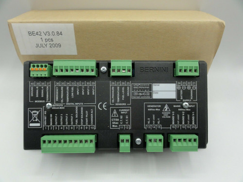Bernini BE42 Genset Controller Generator Control Panel - BE42 V3.0.84 (2009)