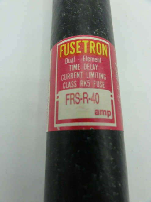 Bussman Fusetron 40A Fuse FRS-R-40 600V Time Delay SHIPS FREE