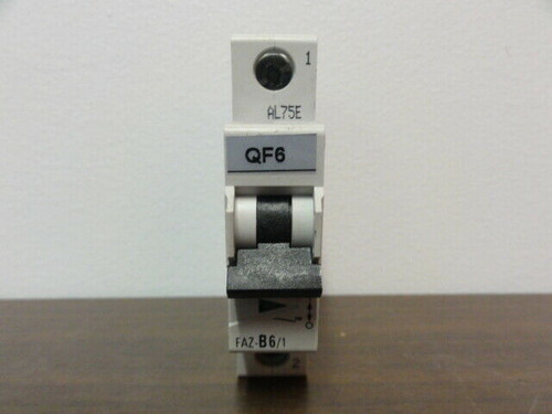 EATON CORPORATION FAZ-B6/1 CIRCUIT BREAKER - 1-POLE 230/400V, 240/415V