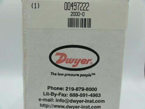 Dwyer 2000-0 Magnehelic Differential Pressure Gauge